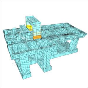 Für den Rollenschneider führte SCHUSTER engineering die baudynamische Berechnung inkl. kompletter Bemessung des Maschinenstuhls mit Pfahlfundamentierung durch.