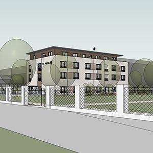 SCHUSTER engineering übernahm die Planung von Architektur und Tragwerk für das Wohn- und Pflegeheim der