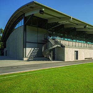 Neubau des Auwald Sportzentrums der Gemeinde Gundremmingen
