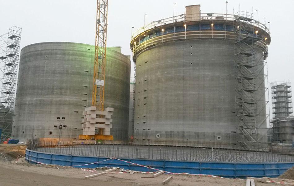 Biogasspannbetonbehälter, Verbio AG