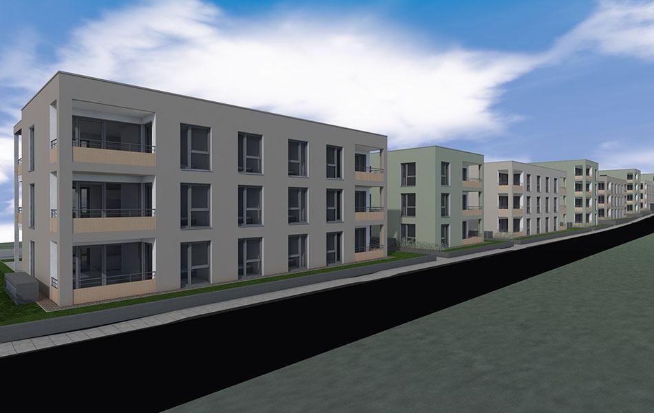 Neubau Wohnanlage mit Tiefgarage in Ulm