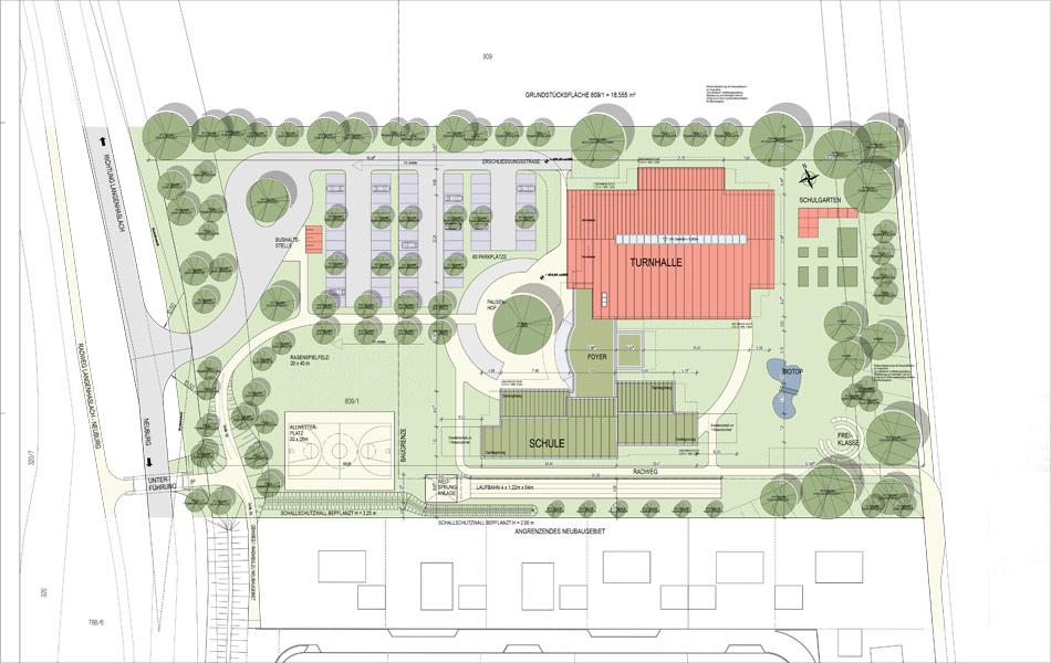 Neubau Grundschule mit Zweifach-Turnhalle