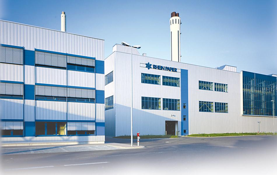 Neubau der Papierfabrik Rhein Papier PM1 in Hürth