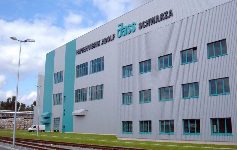 Neubau der Papierfabrik PM1 in Schwarza