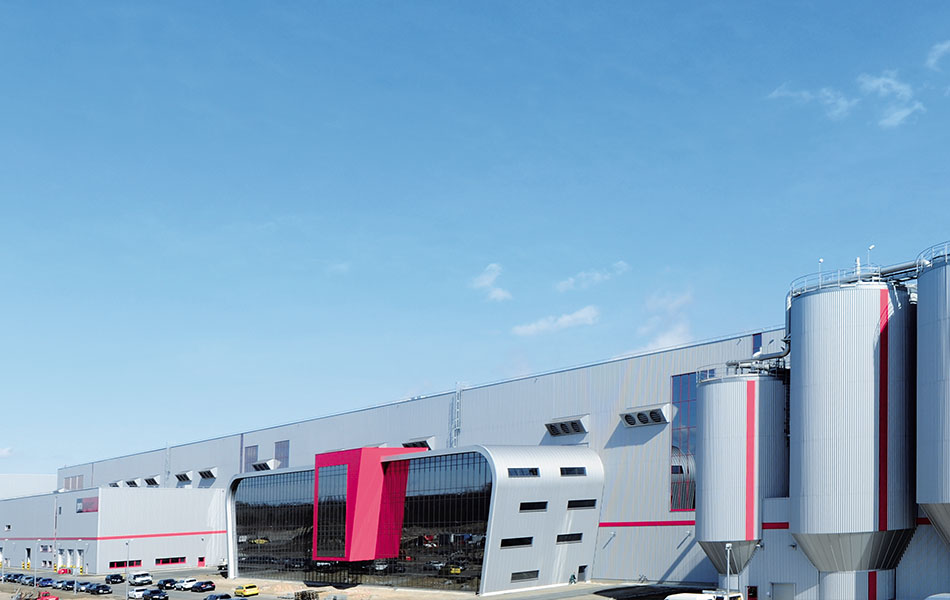 Neubau der Papierfabrik PM2 in Eisenhüttenstadt