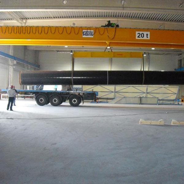 Neubau der Fertigungshalle und des Bürogebäudes. SCHUSTER engineering war dabei als Baugeneraplaner und Bauprojektsteuerer tätig.