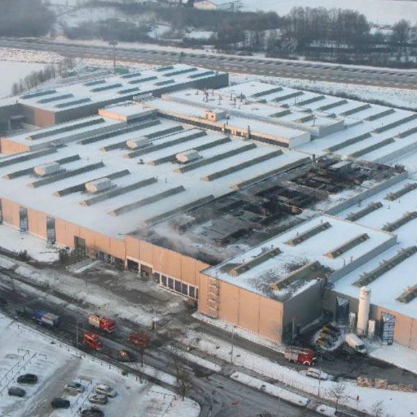 Die Galvanikanlage der Firma Wanzl in Leipheim wurde bei einem Brand fast vollständig zerstört.