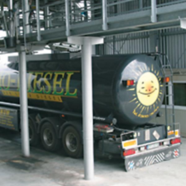 Die Umsetzung einer Pforte mit Waage war Teil der Infrastrukturplanung für die Biodieselanlage von VERBIO.