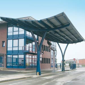 Eingang der Bioethanolanlage in Zörbig