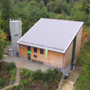 Kletterhalle mit Kletterturm in Krumbach.