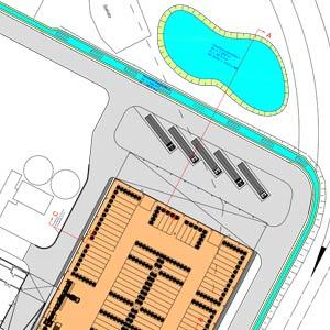 Die Smurfit Kappa in Hoya baute ein 8.000 m² großes Papierrollenlager. SCHUSTER engineering war hier als Baugeneralplaner für das Gesamtprojekt tätig.