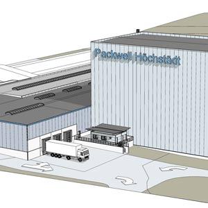 Baupläne der Erweiterung der Packwell Höchstädt Lagerhallen