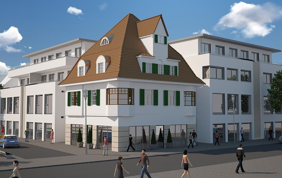 Neubau eines Wohn- und Geschäftshauses in Illertissen