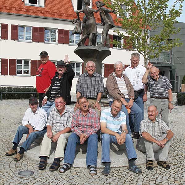 Personen der Wohnanlage für Menschen mit Behinderung in Neuburg / Kammel