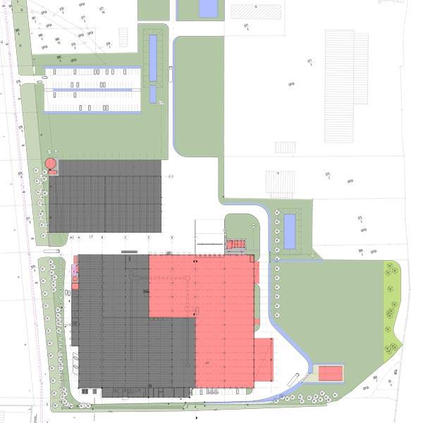 Das Produktionsgebäude der Packwell Schwepnitz wurde um 8.000 m² erweitert.