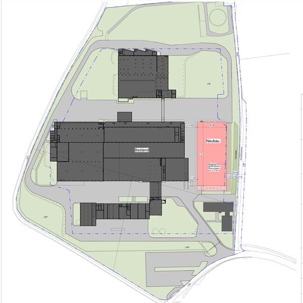 Baupläne für den Umbau einer ehemaligen Molkerei für die Brenner Verpackung und Neubau eines Produktionsgebäudes.