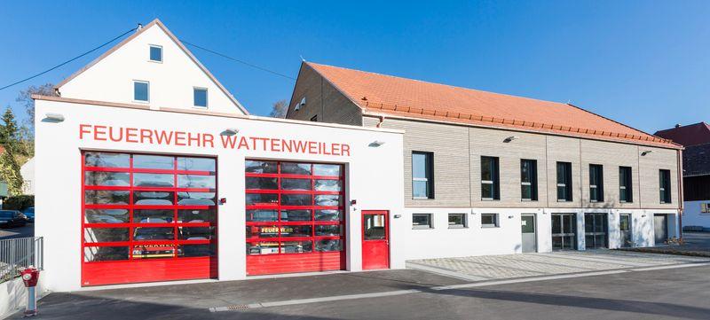 Im Untergeschoss des neu gebauten Bürgerhauses in Wattenweiler befinden sich die Räume der freiwilligen Feuerwehr.