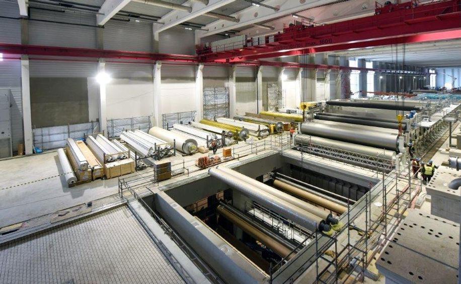 Dafür, dass das Fundament für die Papiermaschine rechtzeitig fertig ist, sorgt gute Projektsteuerung.